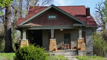 Craftsman Style, rock pillars