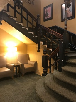 Crescent Hotel, Eureka Springs, AR, stairs, lower level