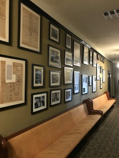 Crescent Hotel, Exhibit at the last floor showing moments from the rich life of the hotel, as both women college and hospital