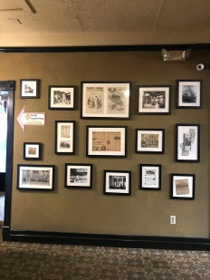 Crescent Hotel, Photos and Newspaper Articles about the hotel on diplay at the last floor of the hotel