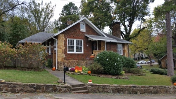 House and pumpkins, Fayetteville, Arkansas