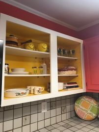 Kitchen objects in the cupboard