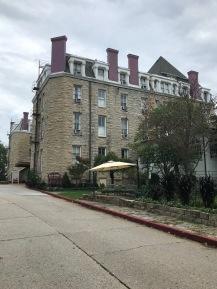 Side view of Crescent Hotel, built 1886 in Eureka Springs, Arkansas