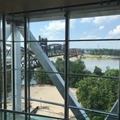 Arkansas River Bank, view from the Clinton Center
