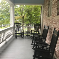 Back porch at Carnall Hall