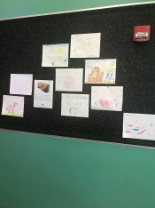 Children artwork at the Library