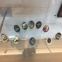 Easter Egg Roll is one of the most popular events organized at the White House; since its debut in 1876, 30.000 people attend it every year. Here, decorative egg-gifts given to the Clintons, which depict national or regional symbols