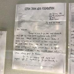 Elton ohn`s letter to President Clinton