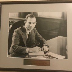 Fulbright at his desk in Old Main )as mentioned, he was President of Arkansas University in the years 1939-1941)