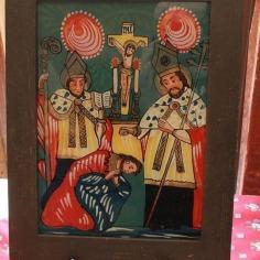 Icon on glass, Slovak community of Arkansas
