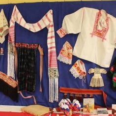 Parts of the peasant garb; on the left side, women`s accessories