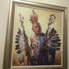 Quapaw man, circa 1700, oil on canvas by Charles Banks Wilson, 1990