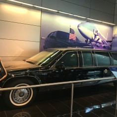 The Cadillac Fleetwood was the presidential limousine in 1993. Only 3 vehicles like this were produced by General Motors in Warren, Michigan. It had the state of the art in communications systems and protection systems