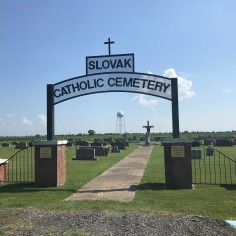 The entrance to the Slovak Catholic Cemetery