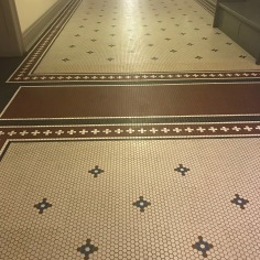 Tile floor at the basement of the Old Main