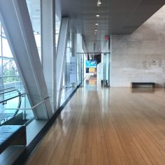 View towards the Main Gallery of the Clinton Centre, which is technically located on the 2nd floor
