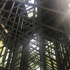 View towards the roof, Thorncrown chapel