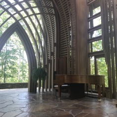 View towards the woods, Mildred B. Cooper Chapel