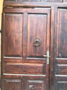 Door detail of house on I.L.Caragiale Street, Rasnov