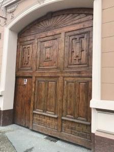Gate in the downtown of Rasnov, Brasov county