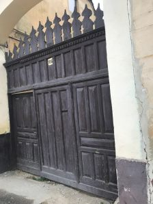 Gate in the village of Cristian, Brasov county