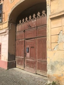 Gate of the house in the main square, Rasnov