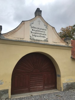 Gate to the Evangelical Church, Cristian, Brasov county