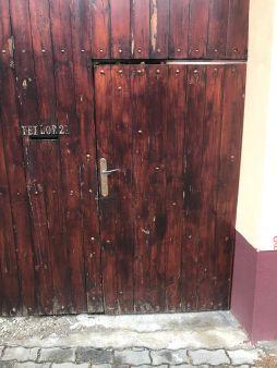Gate with mail slot on Teilor Street, Rasnov