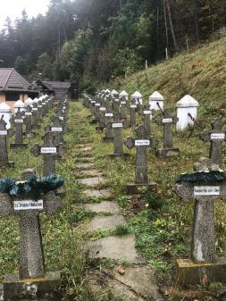 Symbolic crosses for the dead heroes of Rasnov