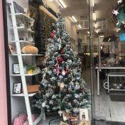 Christmas Tree in shop on Republicii Street, Brașov