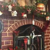 Detail Christmas Decorations in the Casa Românească Restaurant