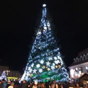The Christmas Tree in the Town Square, where the Christmas market was organized