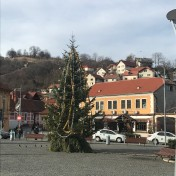 The Decorated Tree in front of the Eastern Christian Church in Șcheii Brașovului