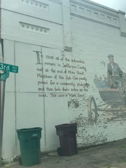On a Wall in Pine Bluff Centre
