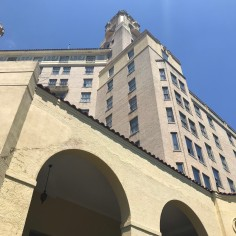 Arlington Hotel, side view, down-up, Hot Springs, Arkansas