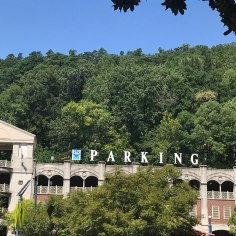 Art Deco style Car Parking, Detail, Hot Springs, Arkansas