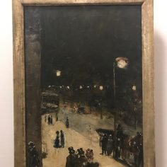 Lesser_Ury,_Berlin_Street_at_Night,_1889